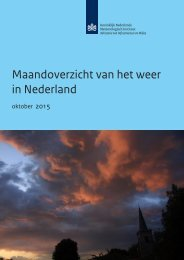 Maandoverzicht van het weer in Nederland