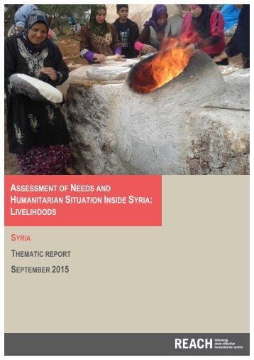 ASSESSMENT NEEDS HUMANITARIAN SITUATION INSIDE SYRIA LIVELIHOODS