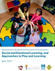 Social and Emotional Learning and Approaches to Play and Learning