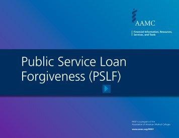 Public Service Loan Forgiveness (PSLF)