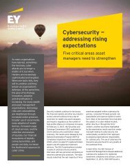 Cybersecurity — addressing rising expectations