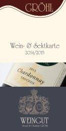 Wein- und Sektpreisliste 2014- 2015