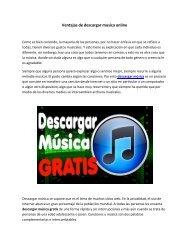 Ventajas de descargar musica online