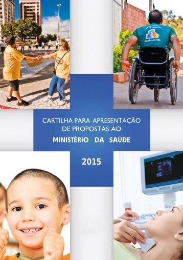 cartilha para apresentação de propostas ao ministério da saúde