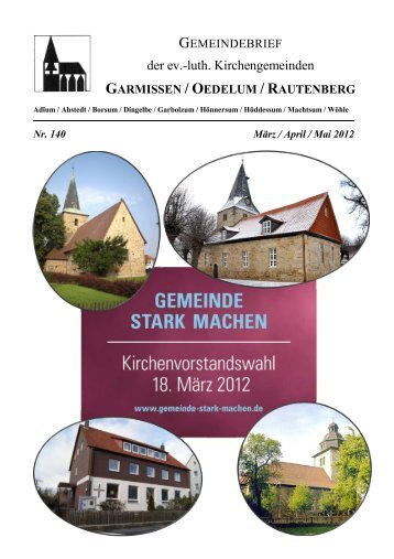 Kirchengemeinde Garmissen - Kirchenregion Schellerten