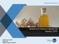 Global and Chinese Carbolic Oil Industry, 2015