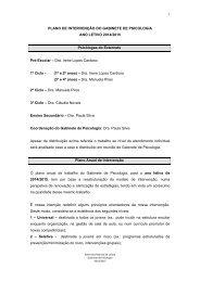 PLANO DE INTERVENÇÃO DO GABINETE DE PSICOLOGIA ANO ...