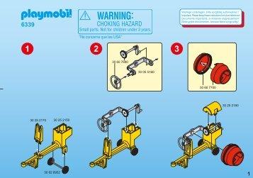 Playmobil 6339 2 operai con betoniera - 2 operai con betoniera