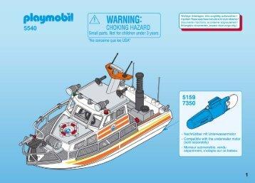 Playmobil 5540 Lancia della guardia costiera - Lancia della guardia costiera