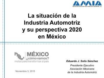 La situación de la Industria Automotriz y su perspectiva 2020 en México