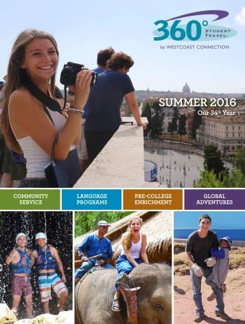 360 Student Travel Brochure: Summer 2016