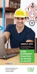 SIMDUT 2015 Guide d'utilisation d'une fiche de données de sécurité