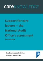 Support for care leavers – the National Audit Office's assessment