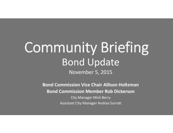 Community Briefing