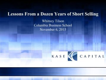 Lessons From a Dozen Years of Short Selling