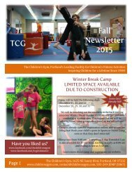 TCG Fall Newsletter 2015
