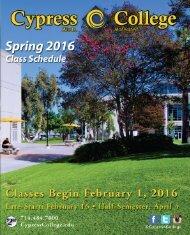 2016-Cypress-College-Spring-Schedule
