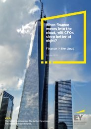 When finance moves into the cloud will CFOs sleep better at night?