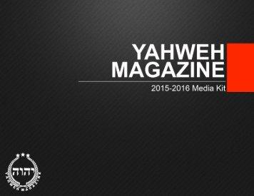 YAHWEH MAGAZINE MEDIA KIT 2015-16
