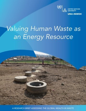 Valuing Human Waste as an Energy Resource