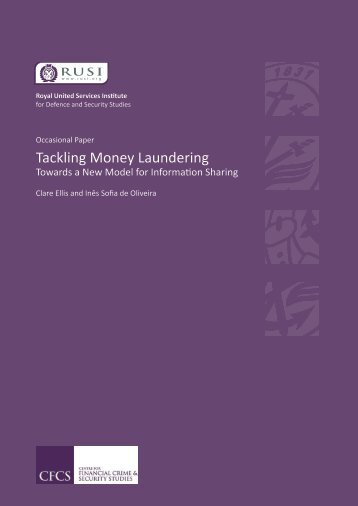 Tackling Money Laundering