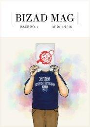 Bizad Mag AY 2015/2016 Issue 1
