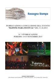 Rapone Fiaba Festival - Rassegna stampa n.° 3 dal 3 al 5 novembre 2015