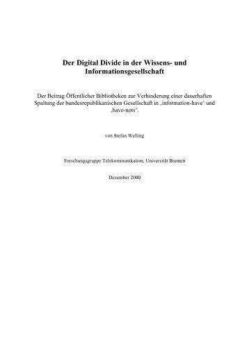 Der Digital Divide in der Wissens- und Informationsgesellschaft - ifib