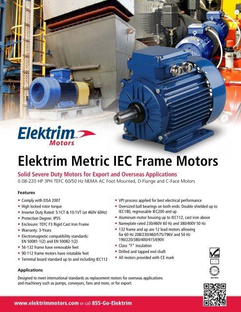 Elektrim Metric IEC Frame Motors