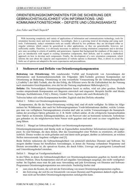forum ware - DGWT - Deutsche Gesellschaft für Warenkunde und ...