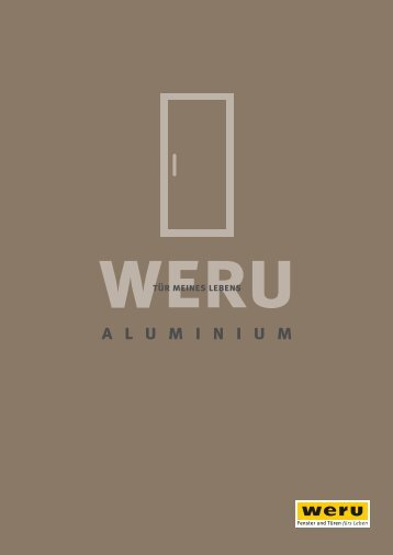 Weru Aluminium Haustüren mit Preis