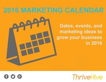 2016 MARKETING CALENDAR