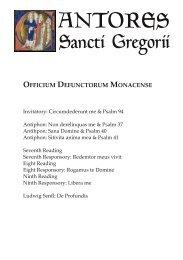 Officium Defunctorum Monacense