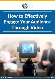 Engage Your Audience Through Video