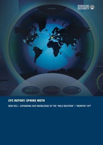 CFC REPORT SPHINX MOTH