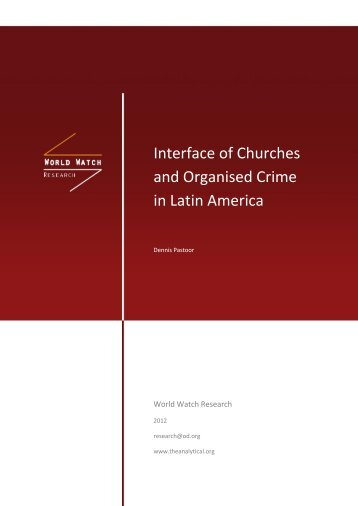 and Organised Crime in Latin America