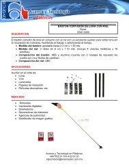 Bastón cortador de lona con riel - Avance y Tecnología en Plásticos.