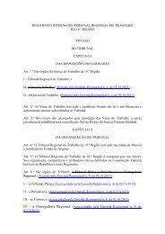 Regimento interno do TRT-19