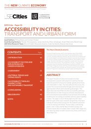ACCESSIBILITY IN CITIES TRANSPORT AND URBAN FORM