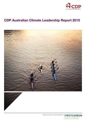 CDP Australian Climate Leadership Report 2015