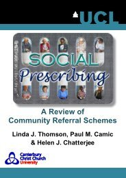 A Review of Community Referral Schemes