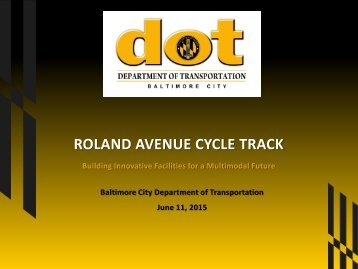 ROLAND AVENUE CYCLE TRACK