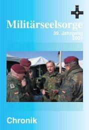 Militärbischof Mixa - Katholische Militärseelsorge