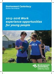 2015–2016 Work experience opportunities for young people