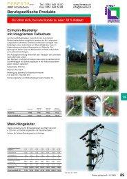 FERESTA GmbH, berufspezifische Produkte