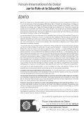 Forum de Dakar pour la paix et la sécurité en afrique - Page 3
