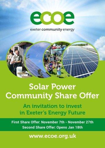 Solar Power Community Share Offer