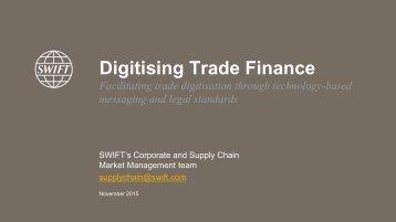 Digitising Trade Finance