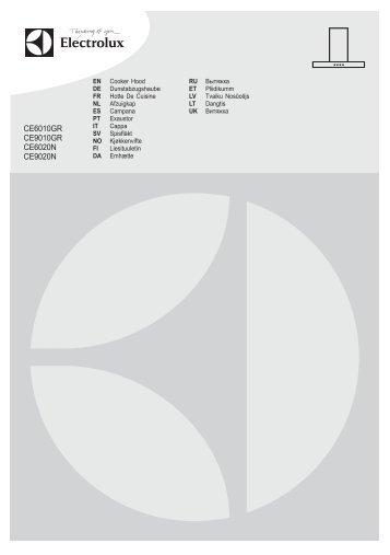 Electrolux Cappa estraibile 60 cm CE6010GR - IT Manuale d'uso in formato PDF (1352 Kb)