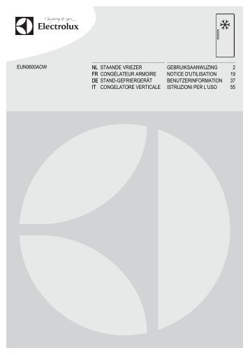 Electrolux Congelatore armadio EUN0600AOW - IT Manuale d'uso in formato PDF (5859 Kb)